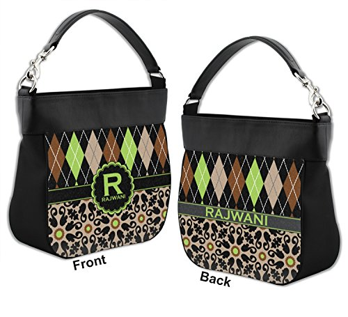 Personalized Front Back Trim Leather w Mosaic Purse Moroccan Hobo Argyle Genuine amp; amp; 1qwz77
