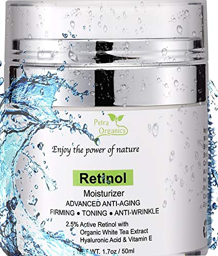 Retinol Cream for Face and Eye Area - with Retinol, Hyaluronic Acid, Shea Butter & Vitamin E - Anti Aging Face Cream - Night Cream Anti Aging - Retinol Moisturizer -1.7oz / 50m