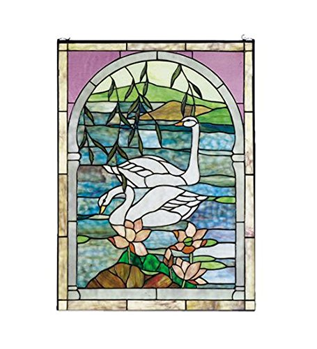 Meyda Tiffany 23868 Swans Stained Glass Window, 22
