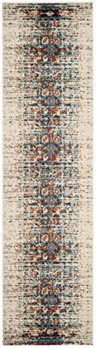 Safavieh Monaco Collection MNC208M Modern Abstract Erased Weave Ivory and Multi Distressed Runner Rug (2'2″ x 14′) Review