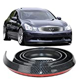 100 Inch/8.5 Feet Carbon Fiber Front Bumper Lip Splitter Chin Protector