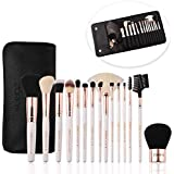 ZOREYA Makeup Brushes Premium Luxury 15pc Rose...