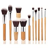 *New Packaging* EmaxDesign® Makup Brushes 11pcs Professional Makeup Brush Set Bamboo Handle Foundation Blending Blush Eyeliner Face Liquid Powder Cream Cosmetic Brush sets Tool kit with Breathable Bag