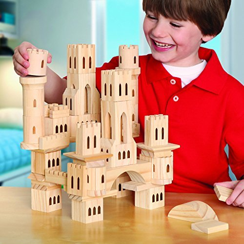 Discovery Kids Toys Wooden Castle Block Set 69-piece Building Construction (Discovery Kids Building Blocks compare prices)