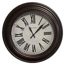 Westclox 20 in. Brown Case Wall Clock