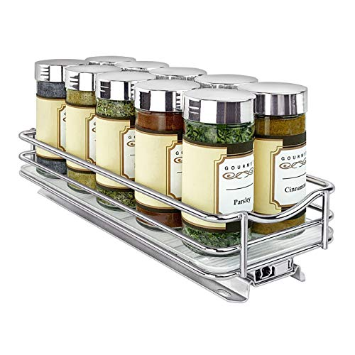 Lynk Professional Pull Out Spice Rack Slide Out Cabinet Organizer
