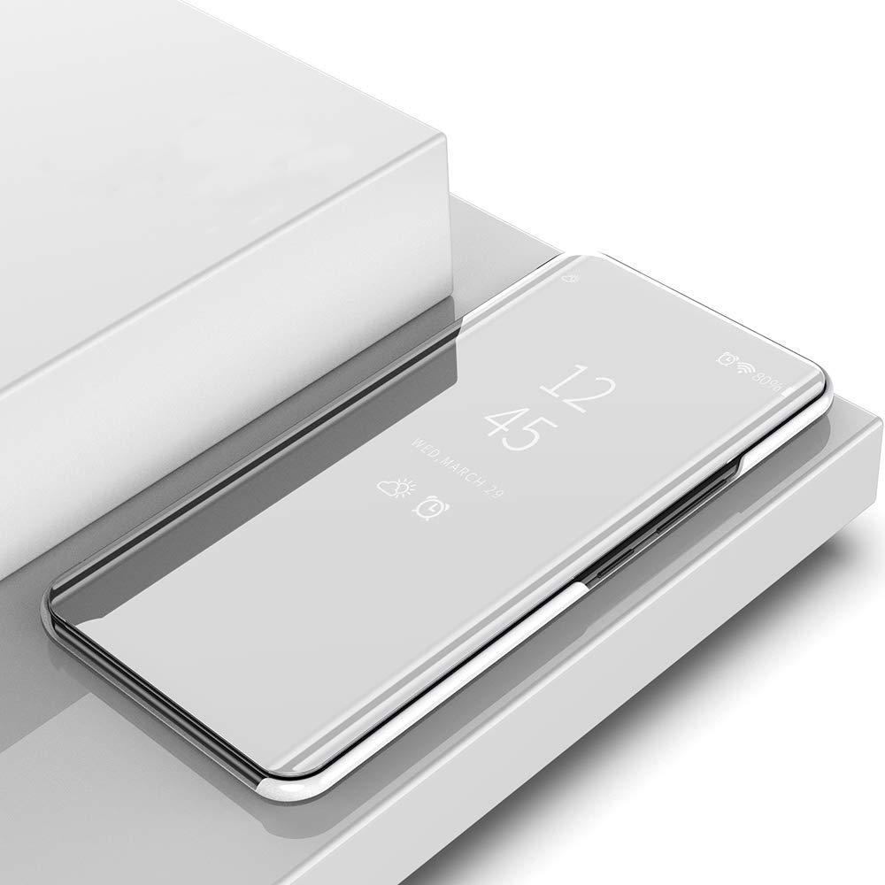 CSM Funda con Tapa para Samsung Galaxy S9 Plus Cobertura Completa con Espejo galvanizado pel/ícula Flexible para Samsung Galaxy S9 Plus Cubierta de Pantalla Transparente con Protector de Pantalla