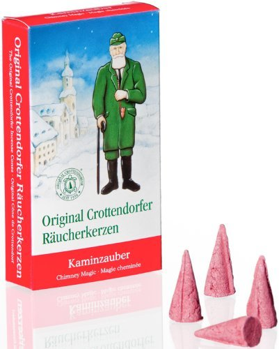Crottendorfer Fireplace Magic Scented Incense Cones, Pack of 24, Made in Germany (Cones Pine Fireplace In)