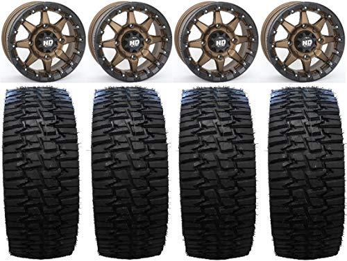 "Price comparison product image Bundle - 9 Items: STI HD5 15"" Beadlock BR Wheels 35"" Desert Series Tires [4x137 Bolt Pattern 12mmx1.5 Lug Kit]"