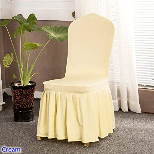 (ROGEWIN Chair Covers 17 Colours Skirted Spandex Lycra Universal Ruffled Wedding Hotel Banquet Decoration Ruched Thick)