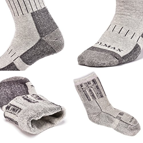 SUDILO Crew Cushion Hiking Trekking Socks,Coolmax Multi Performance Antiskid Wicking Outdoor Athletic Socks by SUDILO (Image #5)