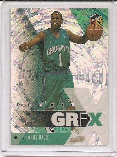 Davis Hornets Baron - Baron Davis 1999-00 Upper Deck HoloGrFX Charlotte Hornets Rookie Card #73