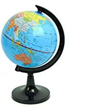 "Political World Globe, Office & School Desktop Stand, Easy Rotating Swivel, 9"" Tall. by Mega Stationers"
