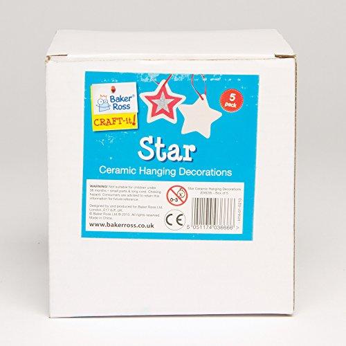 Adornos de cerámica en forma de estrella para colgar de 9 cm con ...