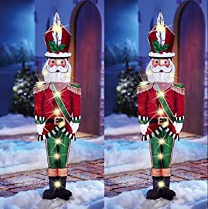 5 ft. Pre-Lit Tinsel Nutcracker Soldier-TY315-1314 - The ...   Lighted Nutcracker Soldier