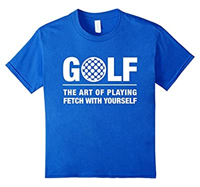 Golf The Art of Playing Fetch Yourself Funny Golf T Shirt