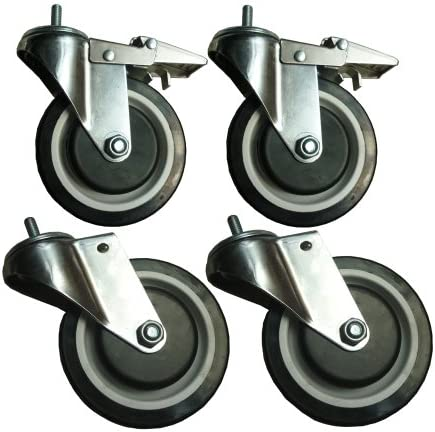 Sandusky WCASTERSET5 4-Caster Set for Wire Shelving, 5 Diameter, 1000 lb. Capacity