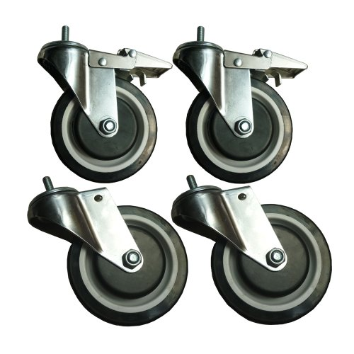 Sandusky WCASTERSET5 4-Caster Set for Wire Shelving, 5