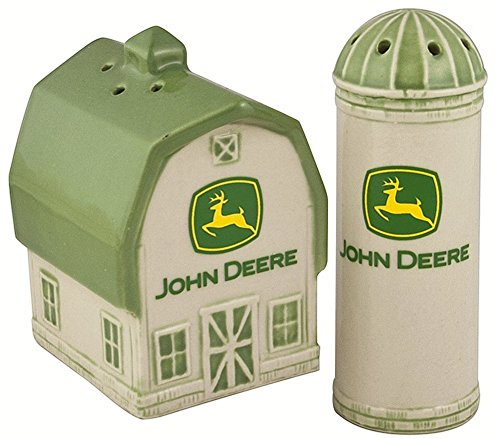 Ceramic Deere John (Deere Barn/Silo 2000 Logo Salt and Pepper Shaker Set)