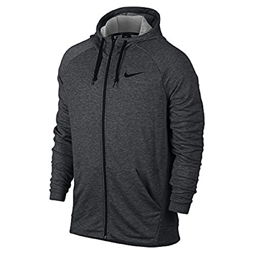 Nike Mens Dri-Fit Fleece Hoodie Charcoal Heather/Black 860465-071 Size Large