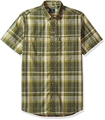 Bass Men's Desert Mountain Fancy Short Sleeve Plaid Shirt