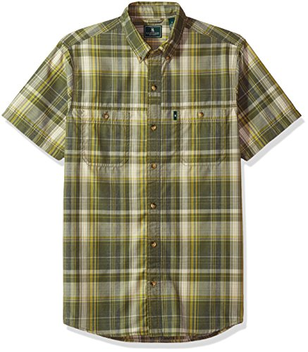 G.H. Bass & Co. Men's Desert Mountain Fancy Short Sleeve Plaid Shirt
