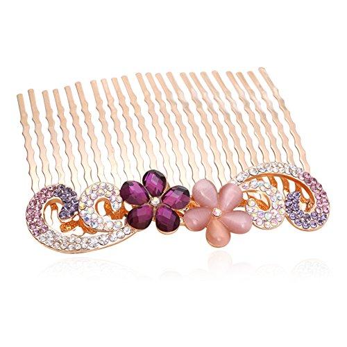 hair clip comb comb insert before/Rhinestone tiara hair accessories-F