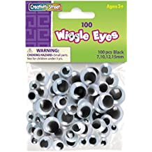 Creativity Street Wiggle Eyes Assorted Sizes, Black, 100-Piece (CKC344602)