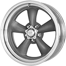 """American Racing VN215 Classic Torq Thrust II 1 Pc Mag Gray Wheel with Center Polished Barrel (15x7""""/5x114.3mm, -6mm offset)"""