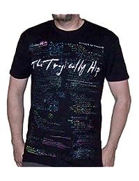 The Tragically Hip Men's Man Machine Poem On Chalkboard Front & Back T-shirt