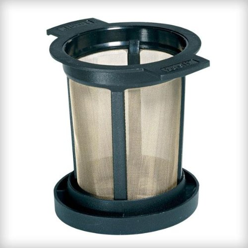 Finum Reusable Stainless Steel Coffee and Tea Infusing Mesh Brewing Basket, Medium, Black