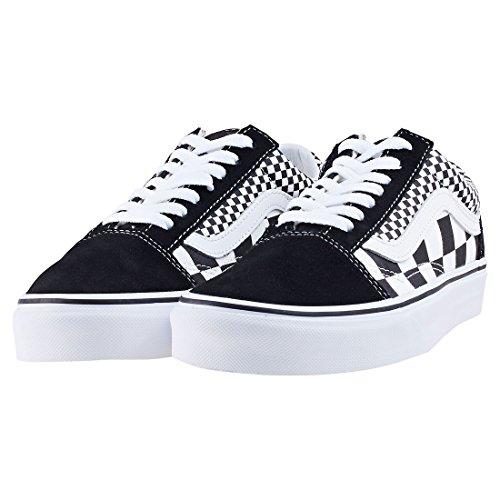 Vans Unisex Old Skool Skate Shoes Checkers/Black/True White 7.5 B(M) US Women/6 D(M) US Men by Vans (Image #1)