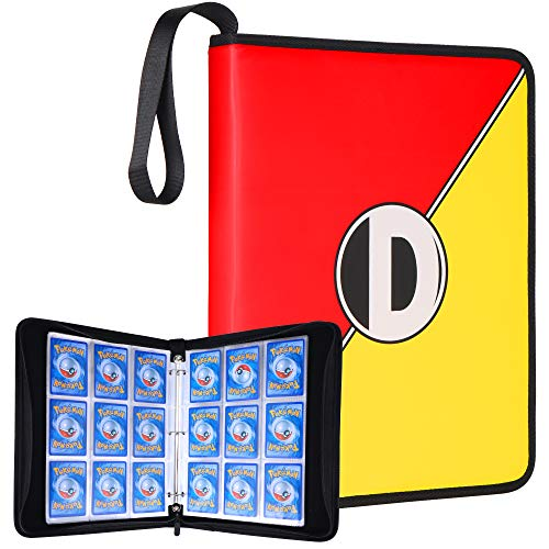 DRZERUI Carrying Case Compatible with Pokemon Trading Cards, Cards Collectors Album with 30 Premium 9-Pocket Pages, Holds Up to 540 Cards (Color Version)