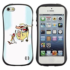 Suave TPU GEL Carcasa Funda Silicona Blando Estuche Caso de protección (para) Apple Iphone 5 / 5S / CECELL Phone case / / Cartoon Characters Chicken Cow Animals Art /