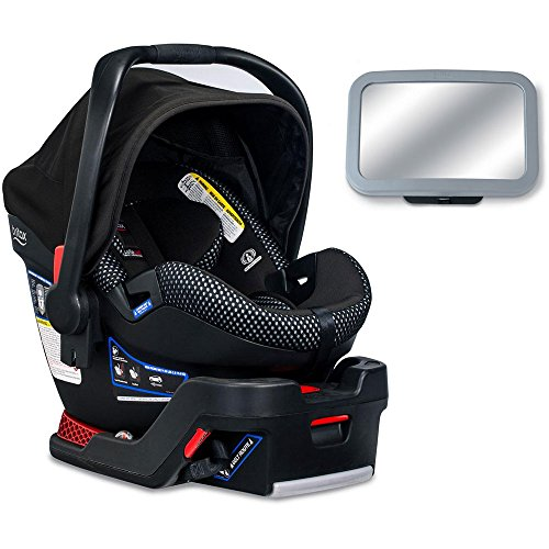 Britax B-Safe Ultra Cool Flow Collection Infant Car Seat with Back Seat Mirror – Gray