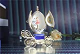 Music Box For Girls Easter Egg Artists Musicbox Eggshell Art Music Box Ballerina Dance Ballet on Carriage
