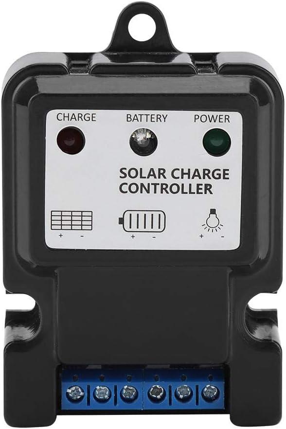 DHS-5S6V//12V 10A Zerodis Intelligent 10/A PWM Panneau Solaire contr/ôleur de Charge R/égulateur de Protection de Charge Solaire pour Petit Syst/ème d/énergie Solaire