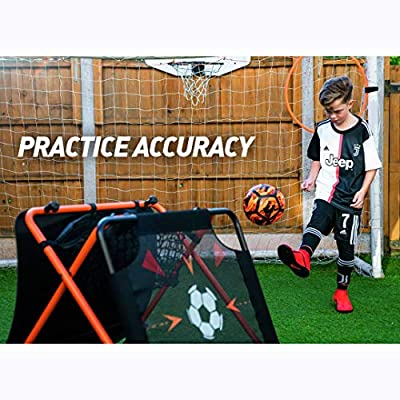 Football Flick Urban Skills Training Rebounder and Net: Sports & Outdoors
