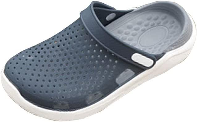 Zuecos Hombre Playa Respirable Zapatos Ultraligero Zapatillas Sandalias Verano Antideslizante Jardín Fuera: Amazon.es: Zapatos y complementos