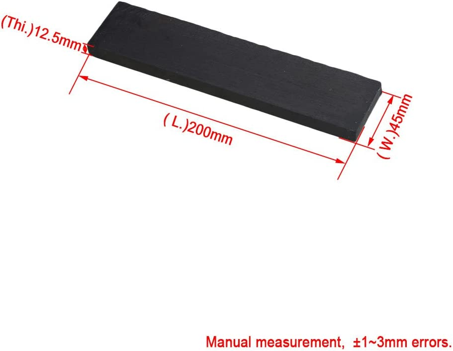 lovermusic lovermusic 20x4.5cm Black Ebony Wood Lumber Blank DIY Material Replacement for Music Instruments Tools