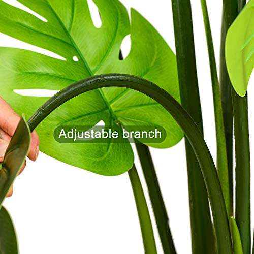 """Woooow 2Pack Artificial Monstera Deliciosa Plant 43"""" Fake Tropical Palm Tree, Perfect Faux Swiss Cheese Plant for Home Garden Office Store Decoration 3"""