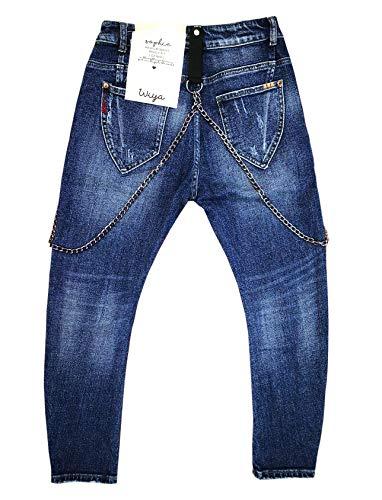 Wiya W36 Denim Bleu Femme Pantalon rvq0Fn7xr