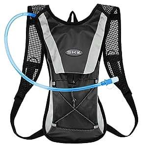 [KuYou]Hydration Pack Water Rucksack Backpack Bladder Bag Cycling Bicycle Bike/Hiking Climbing Pouch + 2L Hydration Bladder,(Black+Water Pouch)