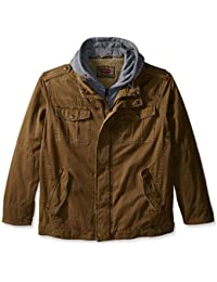 8f25dfe08e8 Men s Big   Tall Washed Cotton Four-Pocket Hooded Trucker Jacket