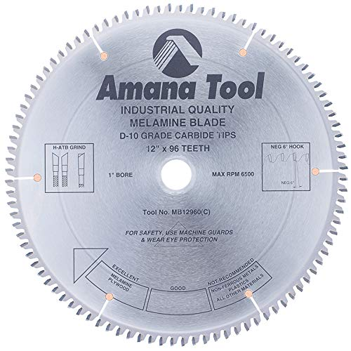 (Amana Tool - MB12960 Carbide Tipped Double-Face Melamine 12