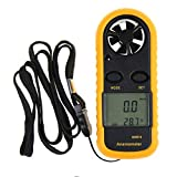 TR.OD Digital Anemometer Handheld Wind Speed Meter for Measuring Wind Speed, Temperature and Wind Chill with Backlight and Max/Min