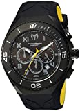 Image of Technomarine Men's 'Manta' Quartz Stainless Steel and Silicone Casual Watch, Color:Black (Model: TM-215069)