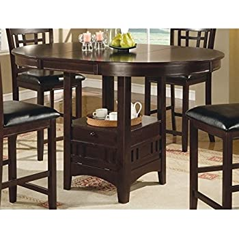 Amazon.com - Coaster Counter Height Dining Table Extension Leaf ...
