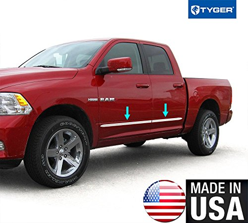 Tyger Auto Made In USA! Works With Body Side Molding Trim Dodge 2009-2018 Ram Quad Cab 1.5'' Wide 4PC - 1 1/2' Wide Trim