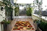 Homedora 10042 Non-Slip Rubber Back Extremely Durable Anti-Slip Water Resistant Small Rug for Kitchen Hallway Entrance Doormat Home Décor Smooth Rug Design